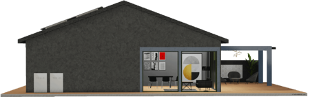 Grey-house-with-tesla-powerwalls-on-the-side-1