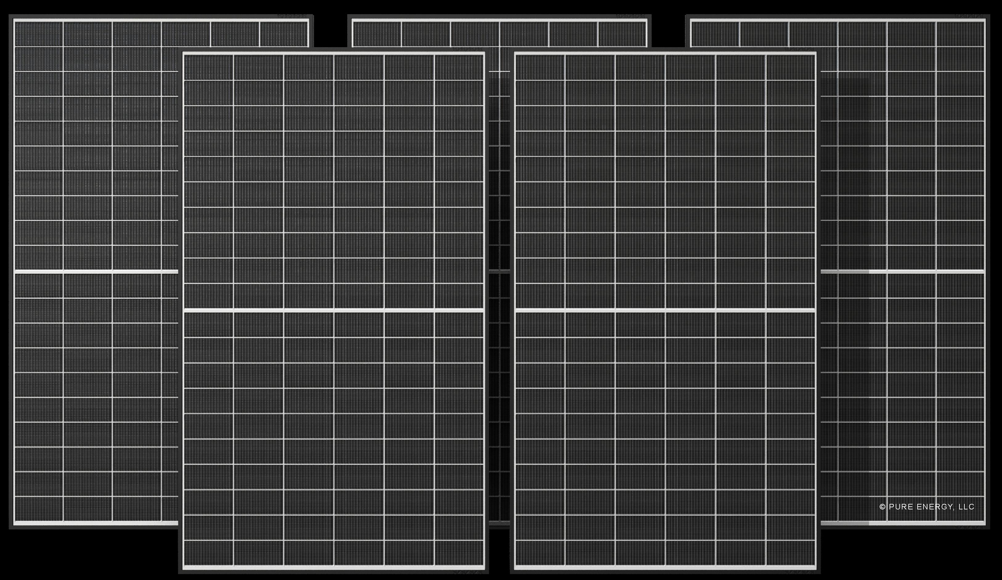 5 black solar panel bundle