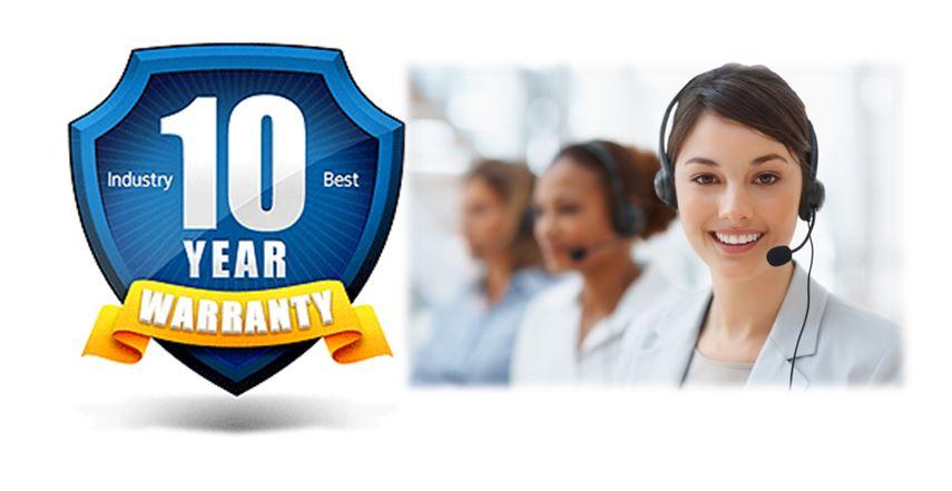 10 Year Warranty