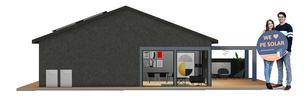 pe-solar-house-with-customers-holding-sign